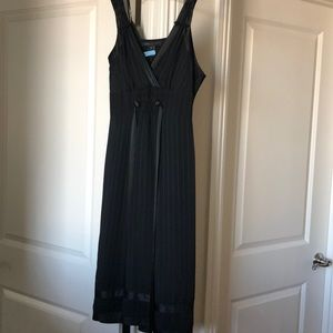Marc Jacobs Black Pinstripe Dress with slip size 6